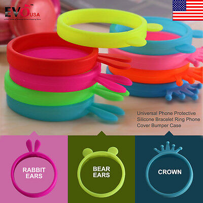 Universal Phone Protective Silicone Bracelet Ring Phone Cover Bumper Case