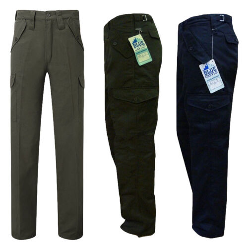 "Mens Blue Castle Combat Workwear Work Cargo Army Trousers Pants Combats 29/"" 32/"""