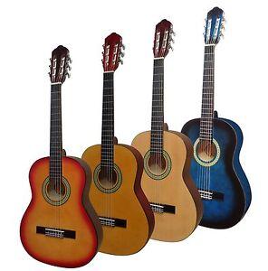 Gitarre-3-4-Jugend-Kindergitarre-fuer-LINKSHANDER-lefthand-Lern-Schulgitarre