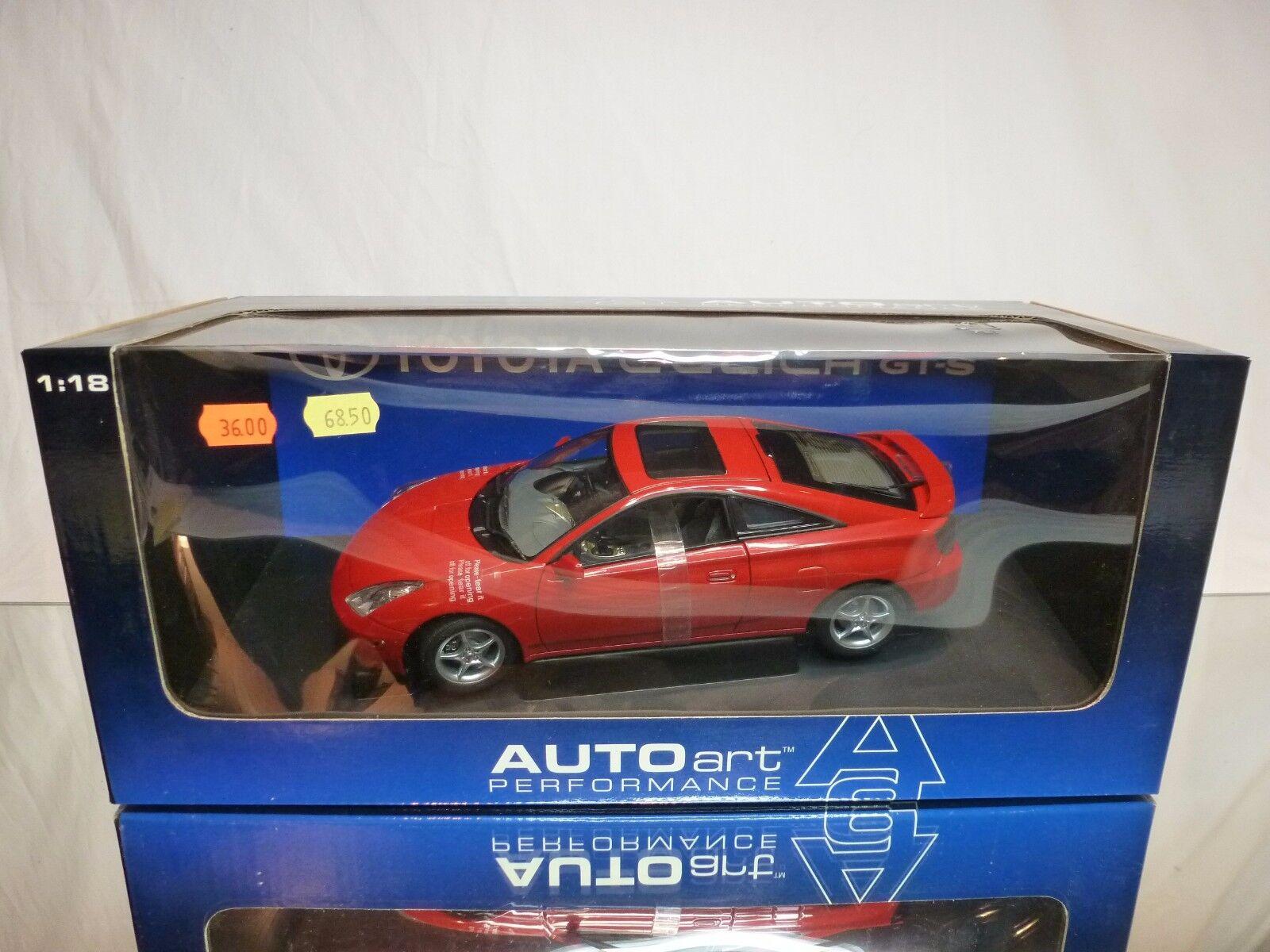 AUTOART 78727 TOYOTA CELICA  GTS 2000 RHD - 1 18 - BOXED + TRANSPORT les bretelles voiture  tous les produits sont spéciaux
