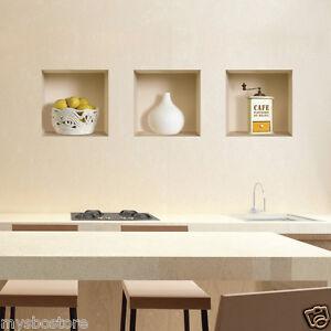 lemon wall sticker 3d decals vinyl removable tile kitchen decor ebay