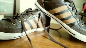 Details about Adidas Mens Shoes Size 8 Neo Brown White Used