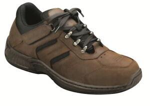 Orthofeet-Shreveport-Men-039-s-Brown-Walking-Shoes-NW-OB