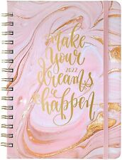 2022 Academic Weekly Monthly Planner With Tabs 65x85 Pink Gilding Jan Dec