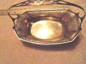 Vintage Webster Co. Sterling Silver BonBon Dish Bowl with Handle 95.9 Grams