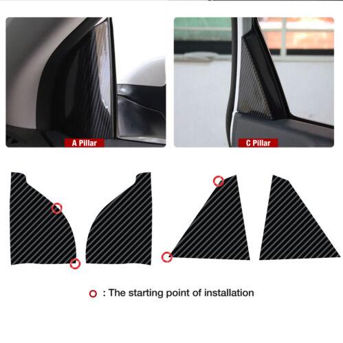 Interior A C Pillar Cover Carbon Black Decal Sticker for HYUNDAI 2018 Sonata i45