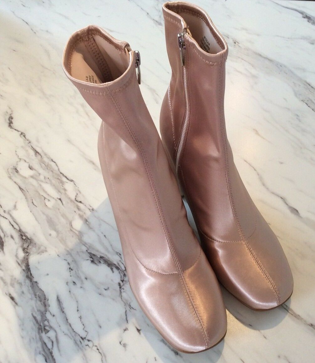 Marc Fisher Pink Satin Boots New Without Tag Or Box Ladies Size 8