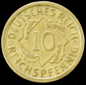 Allemagne (weimar) 10 Reichspfennig 1924 To 1936 (choisir L'année) (gli-001)-afficher Le Titre D'origine Vente De Fin D'AnnéE