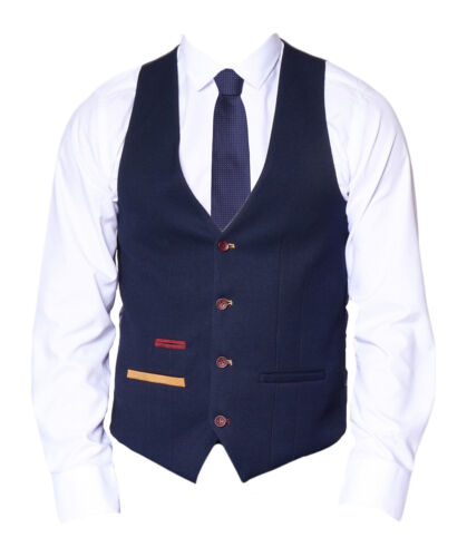 Jd4 Fashion Navy Blue Formal Darcy Mens Marc Waistcoat PXwxHqvg