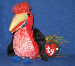 TY-FRILLS-the-HORNBILL-BIRD-BEANIE-BABY-MINT-with-MINT-TAG