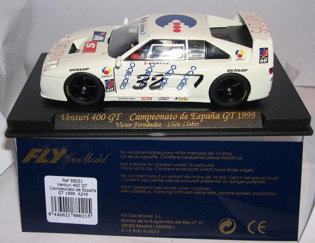 FLY 88021 A-243 VENTURI 400 GT CTO. ESPAÑA GT 1999 V.FERNANDEZ LL. LLOBET MB
