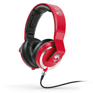 New-Skullcandy-Mix-Master-Over-Ear-Professional-DJ-Headphones-in-Red-w-Mic