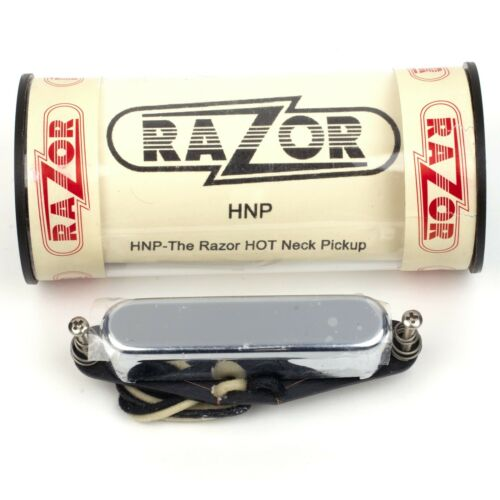 RAZOR HNP Alnico V Hot Neck Pickup for Telecaster Guitar w// Chrome Cover 9.5K
