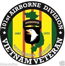 ARMY VIETNAM VETERAN 101ST AIRBORNE DIVISION BUMPER STICKER TOOLBOX STICKER