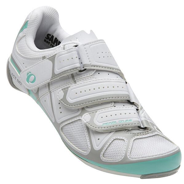 Pearl Izumi Wouomo Select Road IV Bike Bicycle Cycling scarpe biancaAqua Mint 36