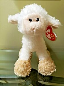 """TY Beanie Baby """"Baaabsy"""" the lamb with tag protector NEW - FREE SHIPPING!"""