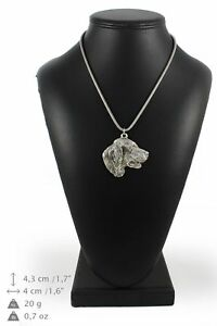 Setter-silver-plated-pendant-on-the-silver-chain-Art-Dog-IE