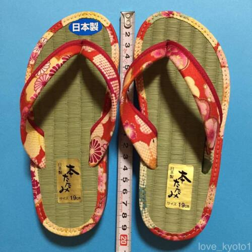 F//S Japanese Tatami Straw mat Zori Sandals Cute Kawaii for girl 19cm from Japan