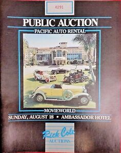 Pacific Auto Auction >> Details About Rare Public Auction Catalog 1970s Movie Automobilia Etc