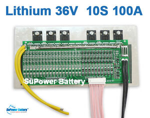 Details about 36V 37V 42V 10S 100A Lithium ion Li-ion LiPo Polymer High  Drain Battery BMS PCM