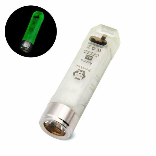 550 Lumens Blue Cree Rechargeable Mini Torch RovyVon Aurora A7 LED Keychain Flashlight Fluorescent Blue,Super Bright EDC Light