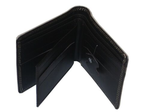 NEW 2019 MENS LEATHER WALLET CREDIT CARD HOLDER PURSE BLACK BOXED FAST SHIPPIN