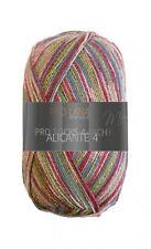 Alicante 4 Pro Lana 4-fach Sockenwolle pink grün cotton stretch Socken stricken