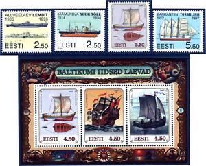Submarine-Lembit-Estonia-Estland-Sailing-Ships-Mint-MNH-Stamps