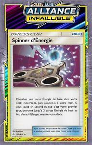 Carte Pokemon SPINNER D/'ENERGIE 170//214 REVERSE Soleil et Lune 10 SL10 FR NEUF