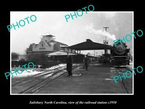 OLD-LARGE-HISTORIC-PHOTO-OF-SALISBURY-NORTH-CAROLINA-THE-RAILROAD-STATION-c1950
