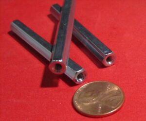 "PT 3//16/"" Hex Zinc Plate Female Threaded Standoff 1 1//4/"" Length 10 pcs 2-56"