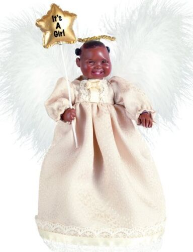 Brown Black Dark New Porcelain Baby Girl Doll Angel Harmony Afro African Am