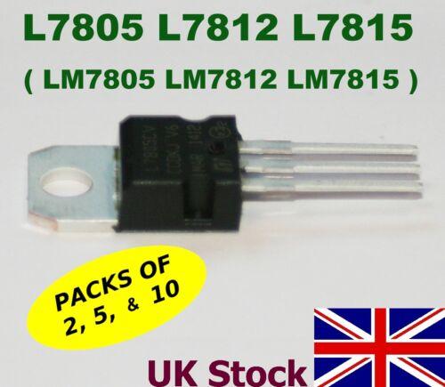 LM7805 LM7812 LM7815  Regulator  TO-220 5v L7805 L7812 L7815 15v 12v