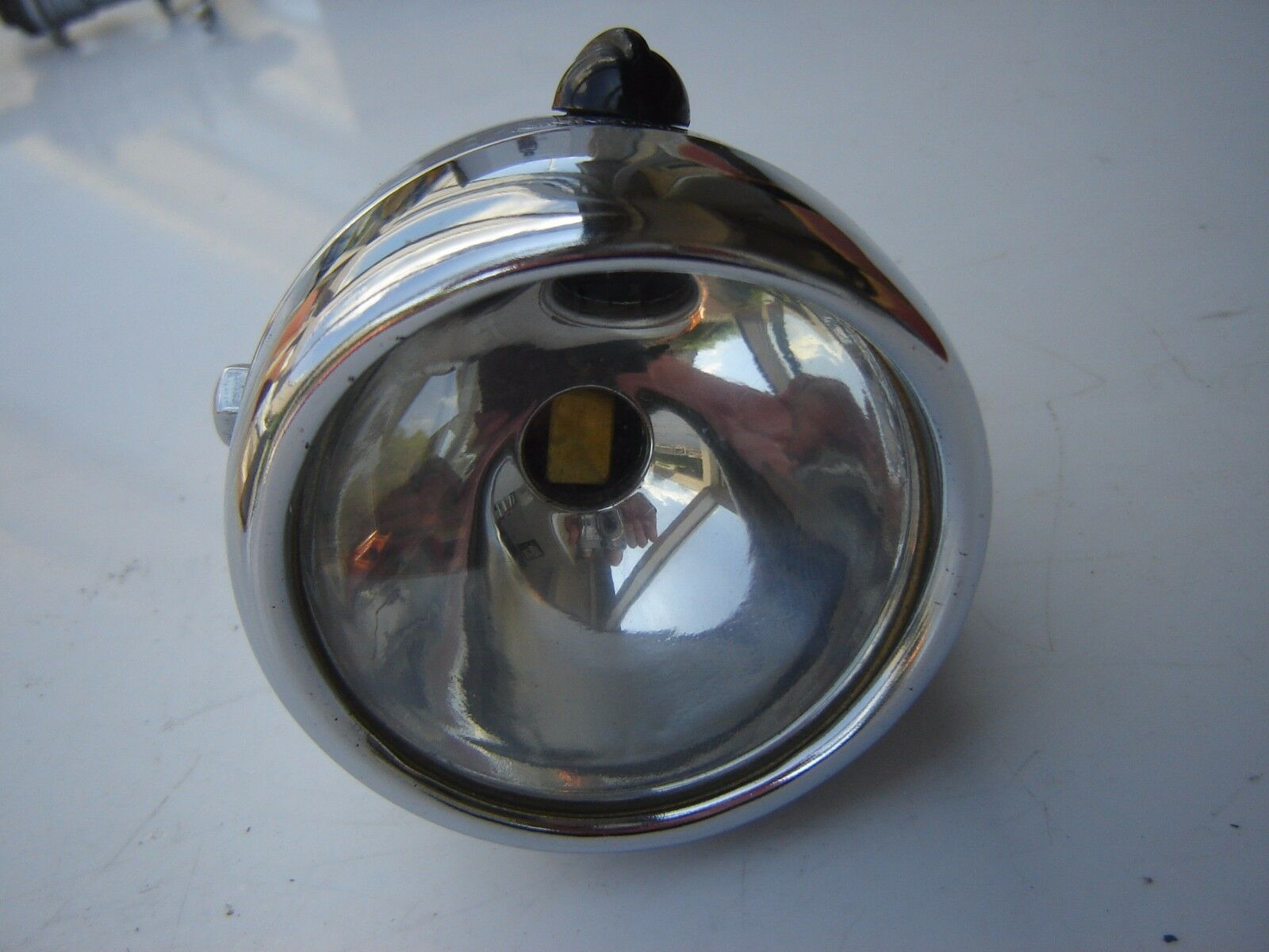 VINTAGE LOHMANN CHROME FRONT  HEAD LIGHT FOR BICYCLE  NOS