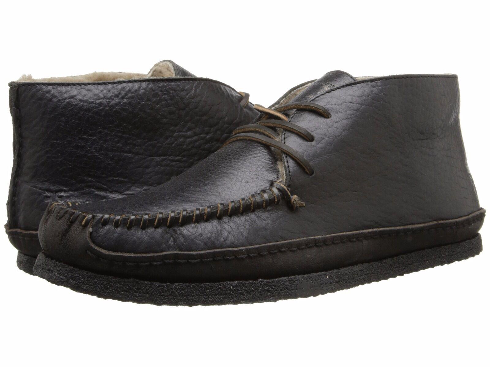 Para hombres cuero búfalo negro Frye Porter Chukka tamaño de piel de oveja 10 precio minorista sugerido por el fabricante
