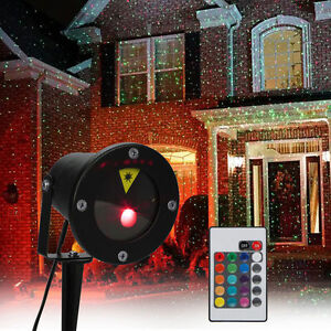 Etanche led projecteur laser lumi re clairage lampe pr pelouse jardin d co no l ebay for Projecteur deco