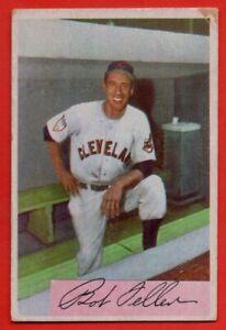 1954 Bowman #132 Bob Feller VG-VGEX+ WRINKLE HOF Cleveland Indians FREE SHIPPING