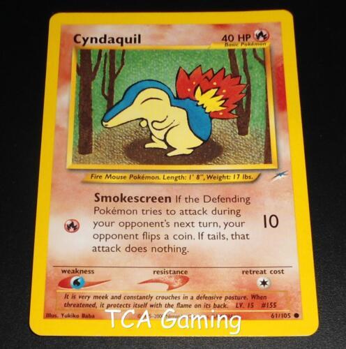 Cyndaquil 61//105 Neo Destiny Set COMMON Pokemon Card NEAR MINT