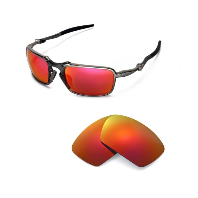 18f46fe8ef New Walleva Polarized Fire Red Replacement Lenses For Oakley Badman  Sunglasses