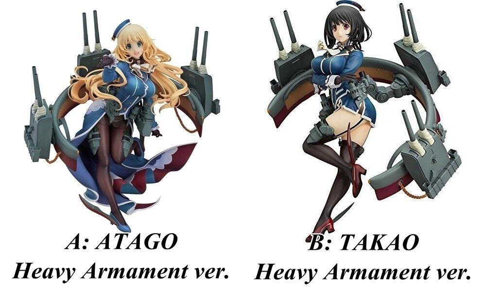KanColle Atago Takaos tunga vapen.Tung kryssare i äkta MaxFactory