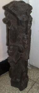 SCULTURA AFRICANA D'EPOCA  in legno  ALBERO FAMILIARE