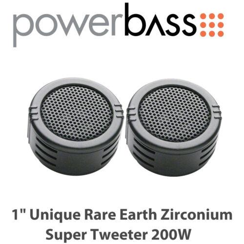 "Powerbass S-1ZT 1/"" Circonio única de tierras raras Super Tweeter 200W"