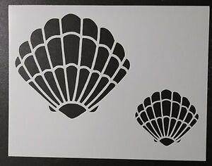Genius image within seashell stencil printable