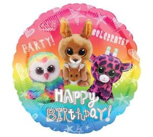 Image Is Loading SET OF 2 TY BEANIE BOOS Happy Birthday