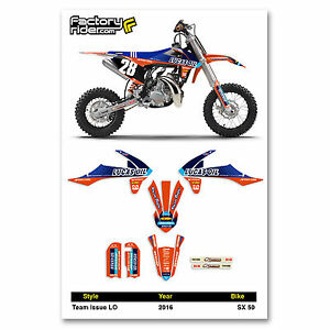 Details about 2016 KTM SX 50 Team Issue LO Motocross Graphics Dirt Bike  Graphic Decal