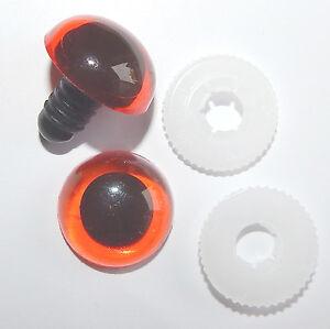 nach EN 71-3 Sicherheitsaug<wbr/>en 3 PAAR AMBER mit Pupille 16 mm aus Kunststoff