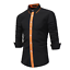 Fashion-Mens-Luxury-Casual-Stylish-Slim-Fit-Long-Sleeve-Casual-Dress-Shirts-Tops thumbnail 4