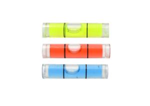 Acrylic 35mm x 8mm Tubular Green Colour mini spirit level bubble round