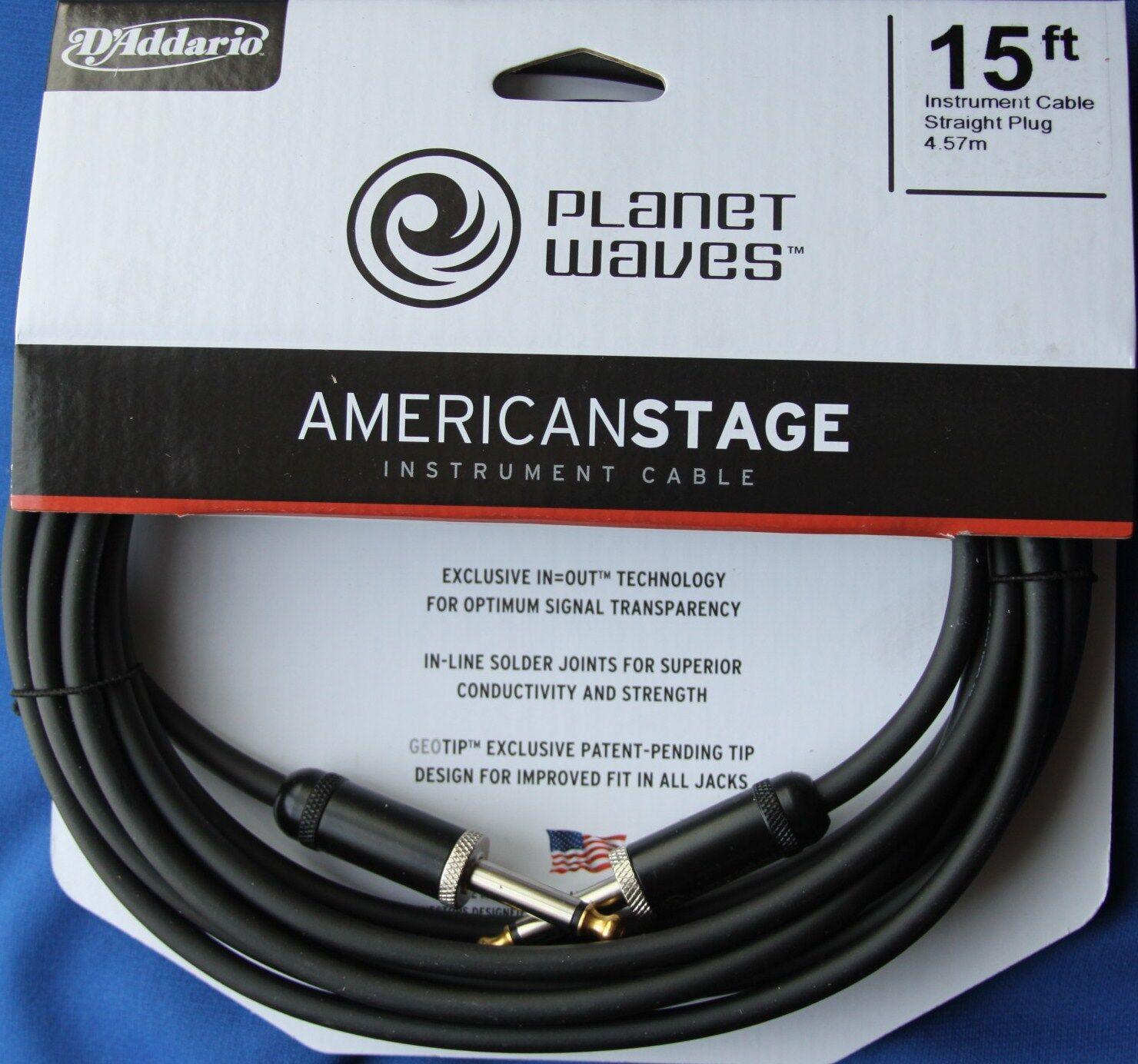 Planet Waves American etapa serie 15' Cable de de de instrumento, PW-amsg - 15  barato y de alta calidad
