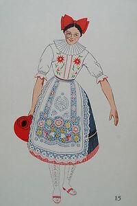 -2-5-15 Gravure Costume De Jeune Fille De Kalocsa Hongrie